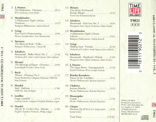 100 Classical Masterpieces, Vol. 5 [Time-Life]