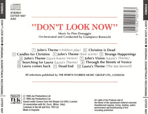 Don't Look Now (Original Soundtrack Recording)
