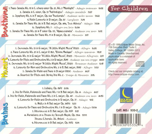 Mozart, Beethoven and Brahms for Children