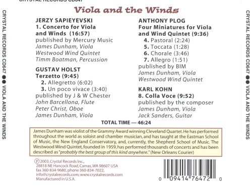Viola and the Winds