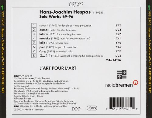 Hespos: Solo Works ('69-'96)