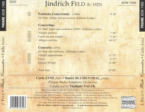 Feld: Complete works for flute and orchestra