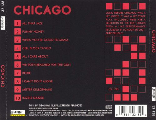 chicago music from the hit stage play and movie