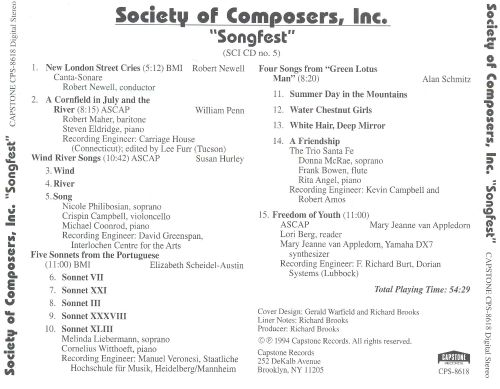 Society of Composers, Inc: Songfest