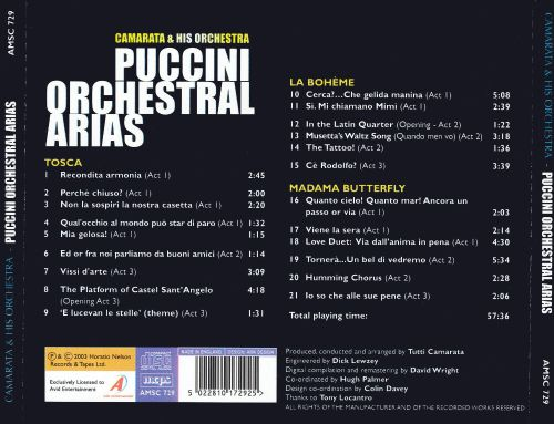 Puccini: Orchestral Arias