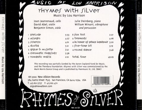 Rhymes with Silver: Music by Lou Harrison