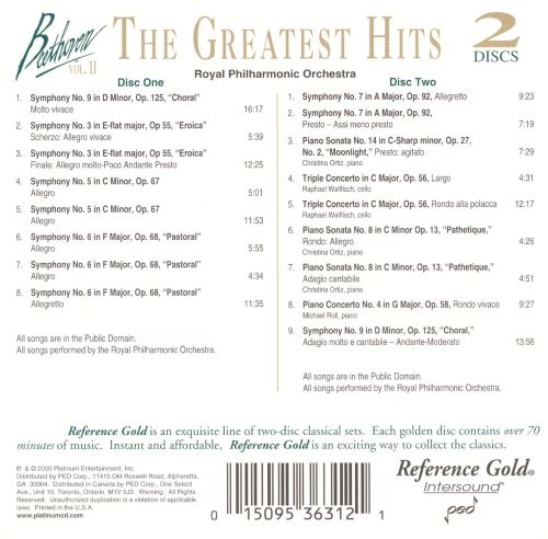 Beethoven: The Greatest Hits, Vol. 2