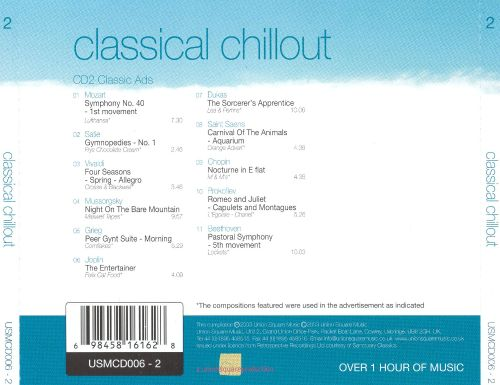 Classical Chillout, Vol. 2: Classic Ads