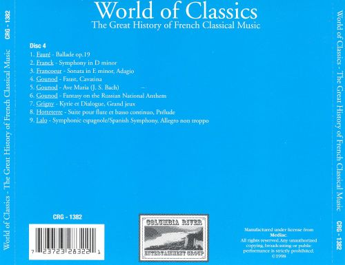 World of Classics: The Great History of French Classical Music, Disc 4