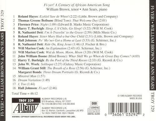 Fi-Yer!: A Century of African American Song
