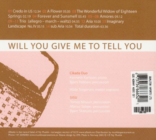 John Cage: Will You Give Me to Tell You