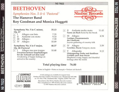 Beethoven: Symphonies Nos. 5 & 6 'Pastoral'