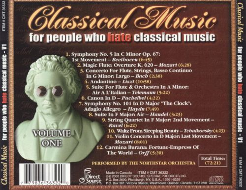Classical Music For People Who Hate Classical Music, Vol. 1