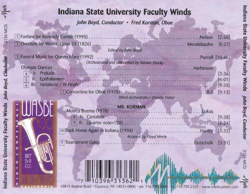 WASBE '99: Indiana State University Faculty Winds