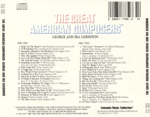 The Great American Composers: George & Ira Gershwin