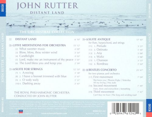 John Rutter: Distant Land, The Orchestral Collection