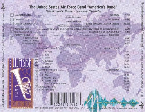 WASBE '99: The United States Air Force Band