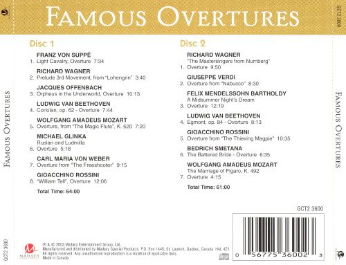 Famous Overtures [Madacy]