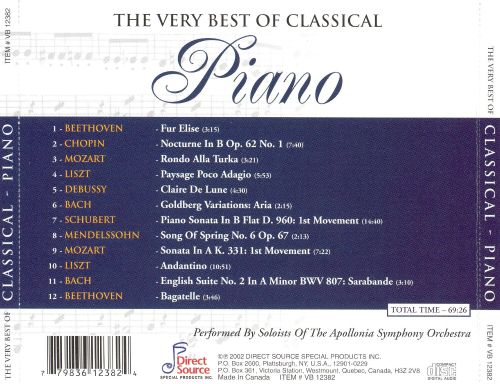 The Very Best of Classical Piano