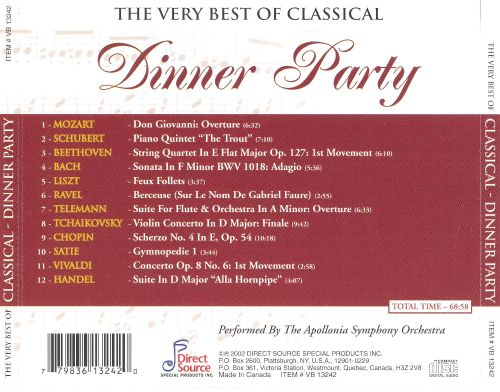 The Very Best of Classical: Dinner Party