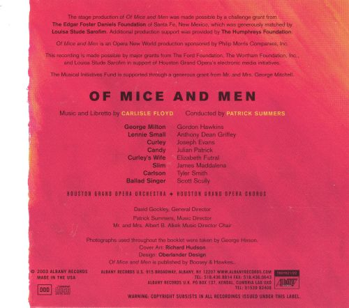 Floyd: Of Mice and Men