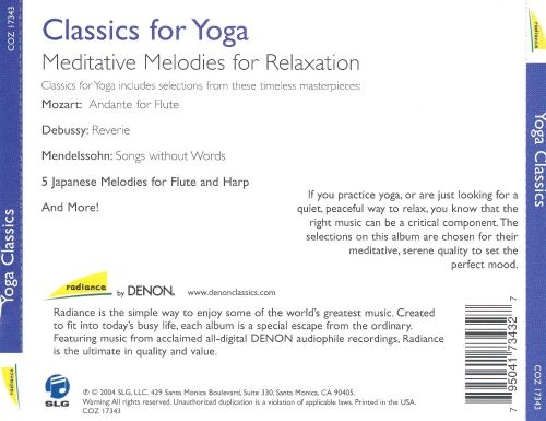 Classics for Yoga: Meditative Melodies for Relaxation