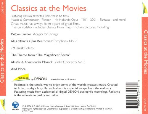Classics at the Movies [Denon]