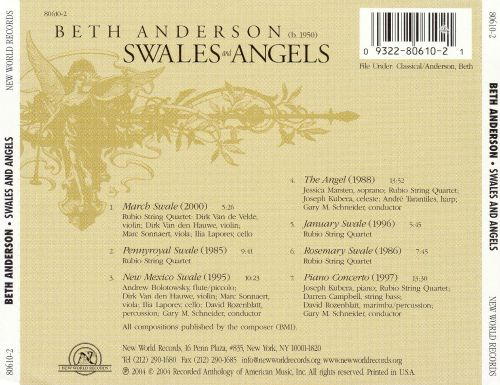 Beth Anderson: Swales and Angels