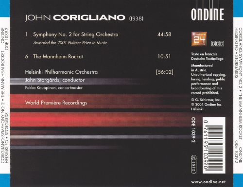 John Corigliano: Symphony No. 2 & The Mannheim Rocket