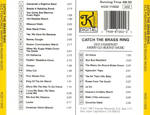 Catch The Brass Ring: Old Fashioned Merry-Go-Round Music
