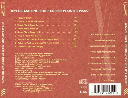 40 Years and One: Philip Corner Plays the Piano