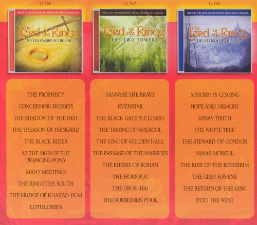 The Lord of the Rings 3 CD Set