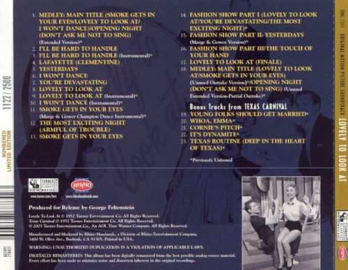 Lovely To Look At [Original Motion Picture Soundtrack]