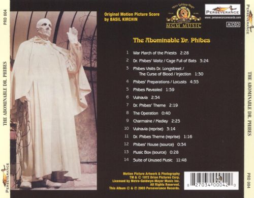 The Abominable Dr. Phibes [Original Motion Picture Score]