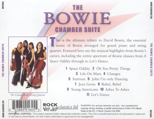 The Bowie Chamber Suite: A Classic Rock Tribute to David Bowie [CD]