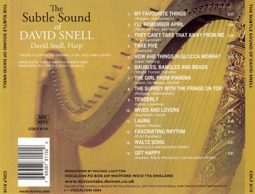 The Subtle Sound of David Snell