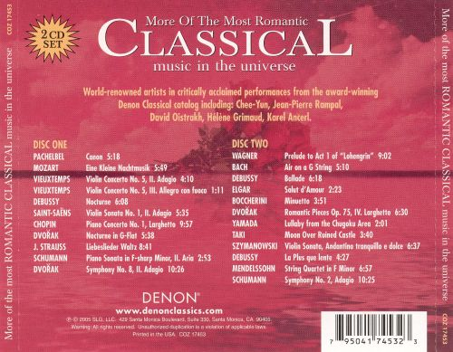 More of the Most Romantic Classical Music in the Universe