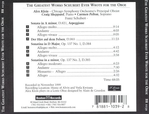 The Greatest Works Schubert Never Wrote for Oboe