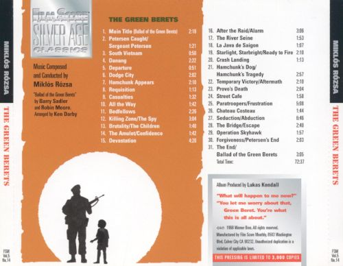 The Green Berets [Original Motion Picture Soundtrack]