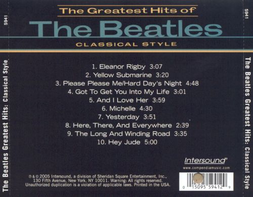 The Greatest Hits of the Beatles: Classical Style