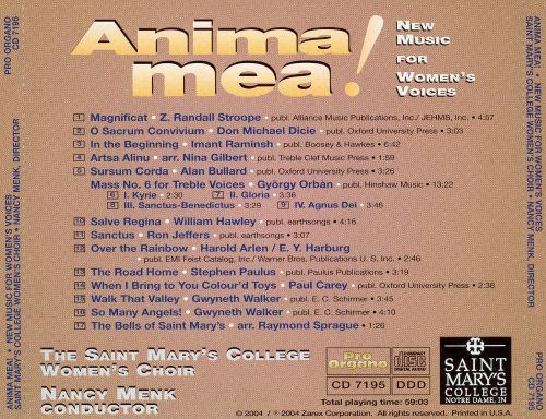 Anima Mea! New Music for Women's Voices