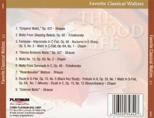 The Good Life: Favorite Classical Waltzes, Vol. 2