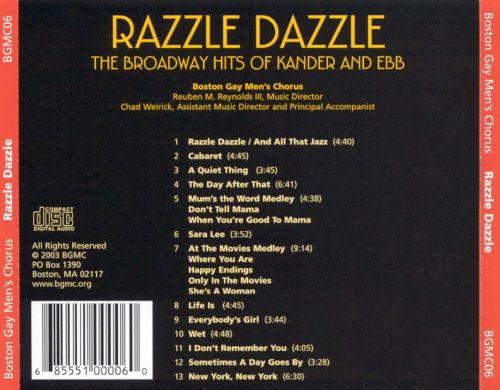 Razzle Dazzle: The Broadway Hits of Kander and Ebb