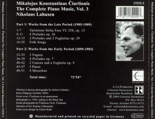Mikalojus Konstantinas Ciurlionis: The Complete Piano Music, Vol. 3