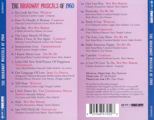 The Broadway Musicals of 1960