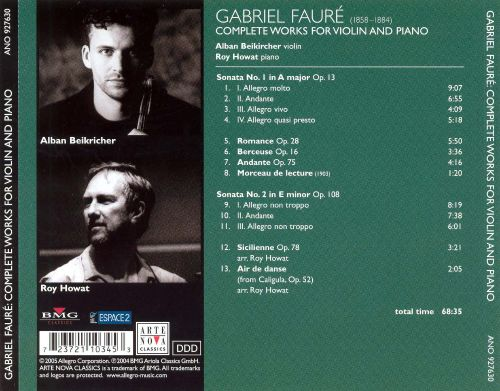 Gabriel Fauré: Complete Works for Violin & Piano