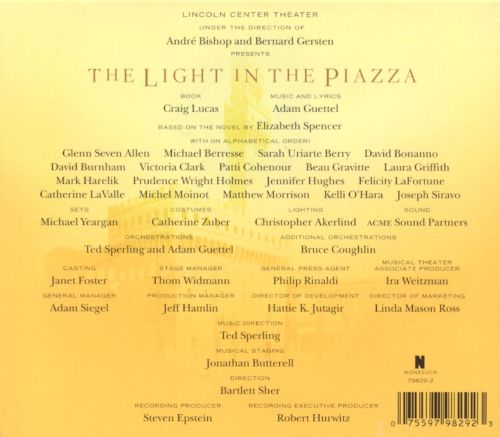 The Light in the Piazza [Original Broadway Cast Recording]