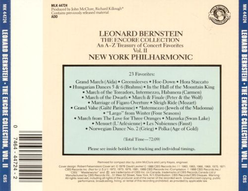 Bernstein: The Encore Collection, Vol. 2