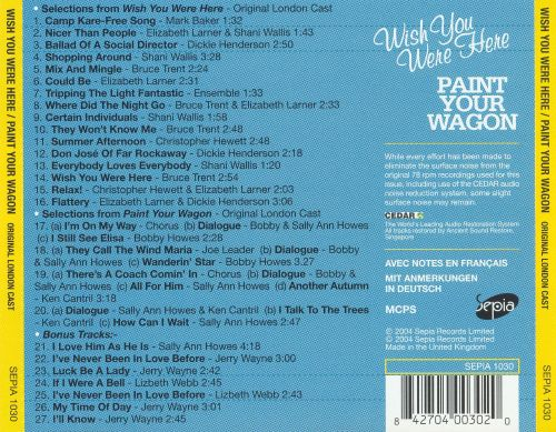Wish You Were Here / Paint Your Wagon [Original London Casts]