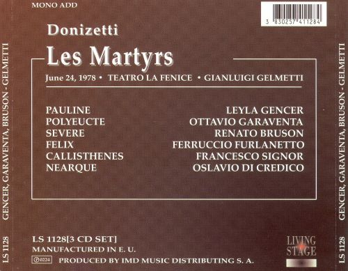 Donizetti: Les Martyrs
